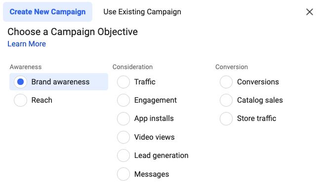 facebook ad campaign set up