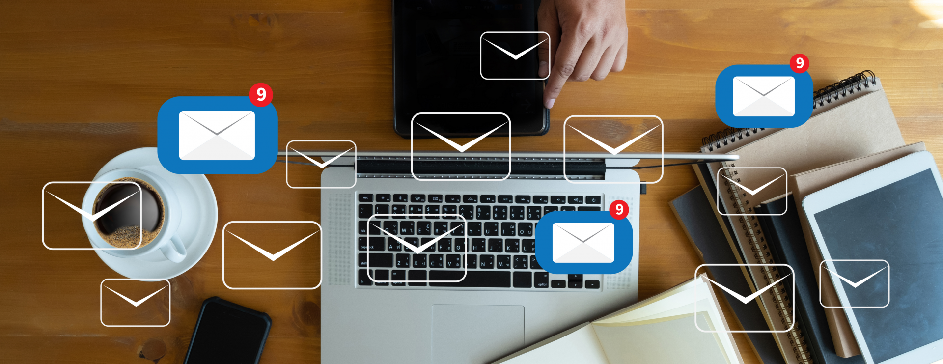 email icons - email marketing services concept